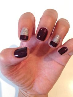 3 Holiday Manicure Ideas for Nail-Art Newbies and Beyond: Daily Beauty Reporter : It's almost mid-December, which means we've all been listening to Michael Bublé's Christmas album and watching Love Actually on repeat for weeks now. (No? Just me?) To really get in the holiday spirit, we had the nail artists at Los...