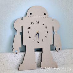 boys robot clock. #boy #robot #clock #decoration