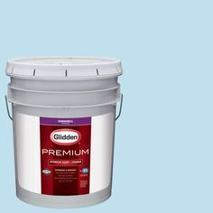 Glidden Premium 5 gal. #HDGB44 Clear Blue Sky Eggshell Interior Paint with Primer