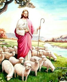 Jésus-Christ Pictures Of Jesus Christ, Religious Pictures, Religious Art, Jesus Is Risen, Jesus Is Lord, Lord Is My Shepherd, The Good Shepherd, Christian Images, Christian Art