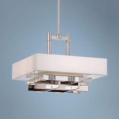 """Metropolitan Eden Roe 18"""" Wide 4-Light Nickel Pendant"""