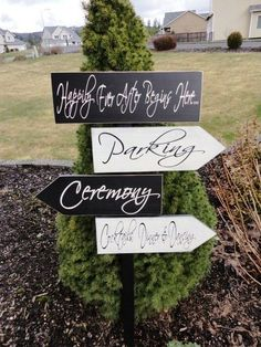 Vintage Wedding signs | Vintage Wooden Signs. Custom Rustic Wedding Directional Signs with ...
