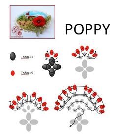 Schema for poppy.  #Seed #Bead #Tutorials