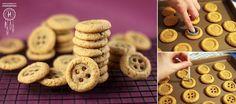 Biscoitinhos em formato de botão!