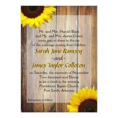 Yellow Wedding Invitations Sunflower Wedding Invitation