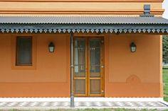 Mirá imágenes de diseños de Casas estilo rural: Loo Mapu. Encontrá las mejores fotos para inspirarte y creá tu hogar perfecto. Garden Stepping Stones, Terrace Design, Santorini, Cottage, Backyard, House Design, Architecture, Outdoor Decor, Home Decor