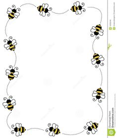 Illustration about Cute bees on white background page border / frame / corner. Illustration of insect, decorative, frame - 12202246 Page Borders, Borders And Frames, Buzz Bee, Bee Party, Bee Crafts, Bee Theme, Bees Knees, Insects, Clip Art