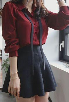 Ruren Blouse | Korean Fashion