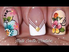 Decoración de uñas flores fácil/ flores básicas para uñas/ decoración de uñas flores paso a paso Nails & Co, Toe Nails, Hair And Nails, Funky Nail Art, Funky Nails, Mani Pedi, Pedicure, Special Nails, Flower Nails