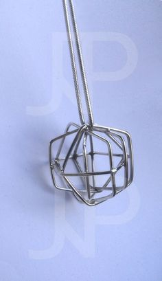 Pentagon Twin Zilveren hanger Sterling silver pendant