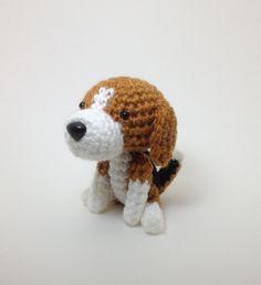 Beagle Amigurumi Dog Stuffed Animal Doll Crochet Dog by Inugurumi
