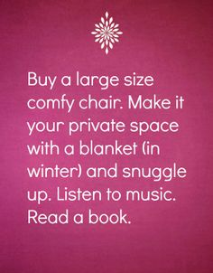 Sounds perfect....Relaxation tip no. 25