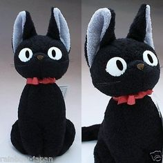 Kiki's Delivery Service JiJi M size Plush Doll Cat Studio Ghibli From Japan