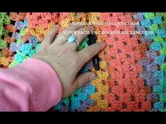 Punto para colcha o cobija tejido a crochet: V en zigzag (se repite solo 1 hilera!) - YouTube