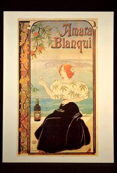 French Liquor Ad Poster Paris Advertisement Wall Art Fashion
