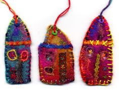 are these me or what?!, fiber, bright colors and little houses! Love!