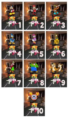 "DIY 12"" Small Mickey Mouse Birthday Party Centerpieces FREE KIT 1st Birthday Mitzvah Baby Shower Clubhouse Minnie Goofy Donald Centerpiece, $10.00"
