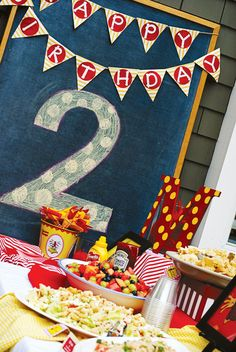 Curious George Birthday Party // Hostess with the Mostess® Curious George Party, Curious George Birthday, Birthday Bunting, Happy Birthday Banners, Birthday Numbers, Monkey Birthday, Monster Truck Birthday, 2nd Birthday Parties, Birthday Ideas