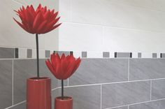 The shape & size of these tiles give a really contemporary feel, perfect if you are going for a modern look in your bathroom.