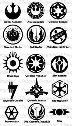 Star Wars Symbols vinyl decal sticker by UniqueGraphix on Etsy, $5.00