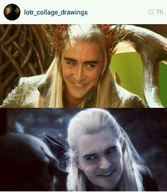 """Like father, like son"" Cheerful royal mirkwood elf, rare sights ! XD"