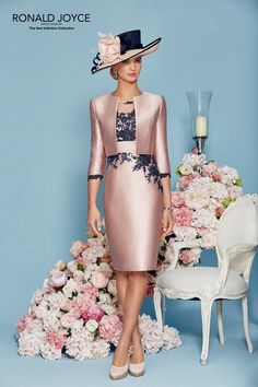 Ronald Joyce Dress & Jacket 991125, in Colour Raspberry/Navy.