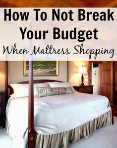 How To Not Break Your Budget When Mattress Shopping. Mattresses can be expensive if you don't do your research. Read this post for valuable mattress shopping tips and for high value coupon codes if you are in the market for a new mattress. http://www.makingsenseofcents.com/2014/11/how-to-not-break-your-budget-when-mattress-shopping.html