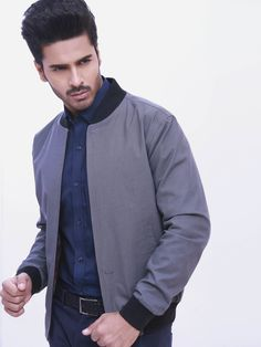 Grey Baseball Jacket