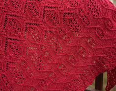 Cartouche shawl: Knitty Winter 2011; This looks like a challenging knit.  Someday!