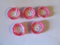 Handmade crochet motif 35mm (5 pcs) Craft supplies Jewelry materials