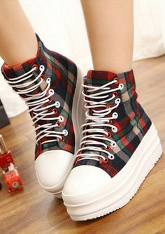 Red Boots | Korean Style Middle Thick Heels Shoes Boot On Ushoes2014