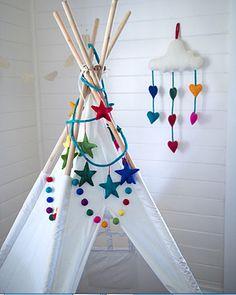teepee collection : two sizes : imaginary fun! Teepee Kids, Teepee Tent, Teepees, Forts, Sky Art, Play To Learn, Imaginative Play, Rain Drops, Love Heart