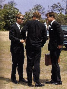 """ The Kennedy Brothers Confer. From The Kennedy White House: Family Life &Pictures, 1961-1963 by Carl Sferrazza Anthony """