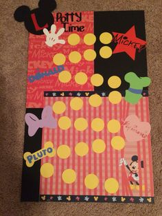 DIY Mickey Mouse potty training chart