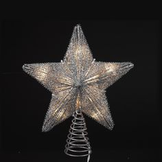 975 Lighted Silver Glittered Star Christmas Tree Topper Clear Lights ** Continue to the product at the image link. Star Christmas Lights, Burlap Christmas Tree, Christmas Stocking Fillers, Christmas Tree Toppers, Christmas Decorations, Christmas Ideas, Xmas, Glitter Stars, Silver Stars