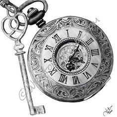 vintage fob watch tattoo - Google Search