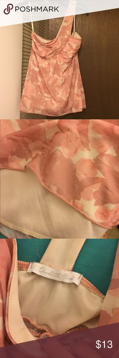 On shoulder strap tank top Tank top with one shoulder strap. Floral pattern. Sheer with underneath slip attached. Hardly worn. In great condition. Charlotte Russe Tops Tank Tops