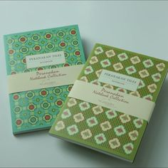 Peranakan tiles inspired notebooks on sale now
