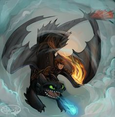 Drawn by sharpie91 ...  How to train your dragon, toothless, hiccup, night fury, dragon, viking