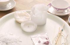 DIY 3: schöne Teetassen Teelichter zaubern von Enie + Messmer   #DIY #TeaTime #Teetassen #Teelichter