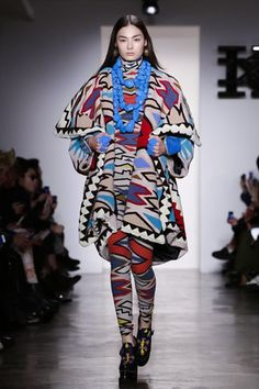 For KTZ's defection to New York, he chose the history of his new presenting country as a point of inspiration. While the designer only copped to using Native American culture as a part of his proce...