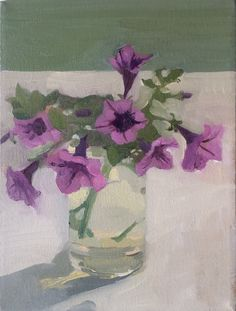 Salt Marsh Petunias | From a unique collection of still-life paintings at https://www.1stdibs.com/art/paintings/still-life-paintings/