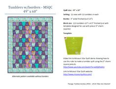 """Tumblers w/borders-MSQC"" quilt pattern by Mary Ann Altendorf  (Jan 2014)"