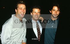 This is a Granger licensable image titled 'LES FRERES BALDWIN.  brothers Baldwin l-r Daniel Alec and William at presentation of tvmovie The Preppie Murder 1989. Full credit: AGIP - Rue des Archives / Granger, NYC -- All ri.' by GRANGER All rights reserved. You may not copy, publish, or use this image except for sample layout ('comp') use only. You must purchase the image from Granger in order to use it for ANY other purpose.