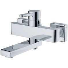 The bath mixer has cold and hot shower water Bath Mixer, Wall Mount, Sink, Chrome, Brass, Cold, Ceramics, Shower, Bathroom