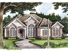 Home Plans HOMEPW10588 - 1,502 Square Feet, 3 Bedroom 2 Bathroom New American Home with 2 Garage Bays