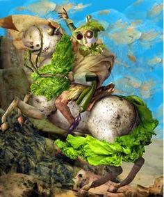 obras de artes clasicas hechas con comida