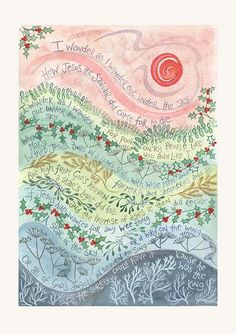 Hannah Dunnett I wonder as I wander Christmas Card