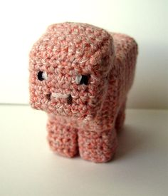 Crochet Minecraft Pig by *meekssandygirl on deviantART I know a little boy who'd love this!