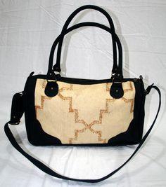 Kilim Leather Large Travel Bag Indian Handmade Kilim Bag Carpet Shoulder Bag  #Handmade #MessengerShoulderBag